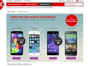 Jedes Jahr ein neues Smartphone - Aktuelle Vodafone Aktion
