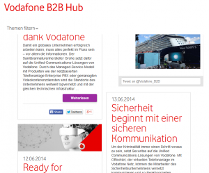 Vodafone B2B Hub (Website)