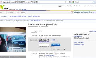 Kate Middleton: Auto bei Ebay zu ersteigern