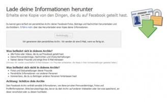 Facebook: Das eigene Profil komplett herunterladen – Tutorial