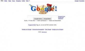Google wird 10 – Herzlichen Glückwunsch