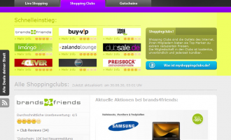 MyShoppingClubs.de – Clever im Internet Shoppen gehen