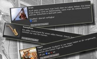 Pennergame: Liste der Eigenheime, Haustiere und Musikinstrumente