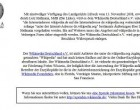 Breites Medienecho nach Wikipedia.de Sperrung